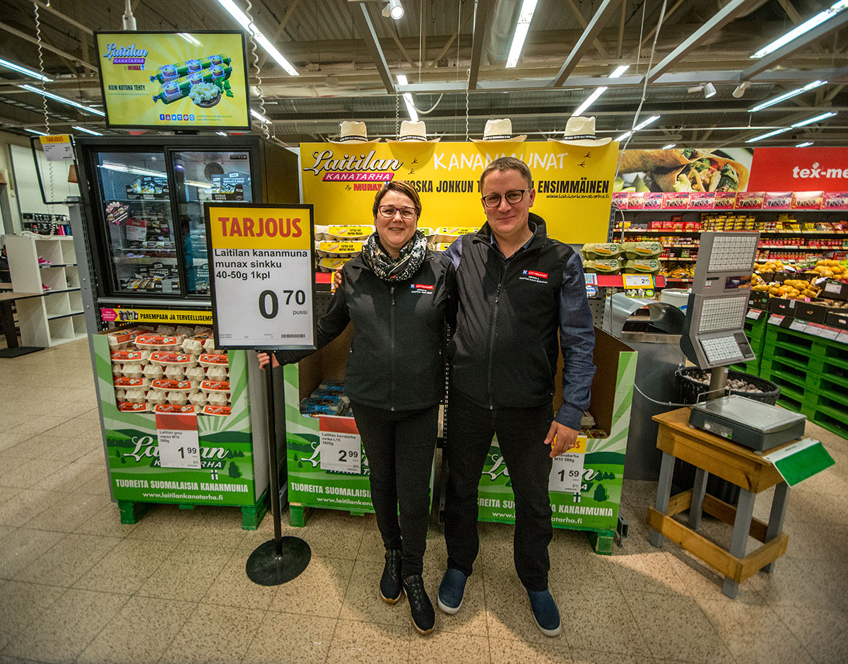 Kuukauden munamyyjä: K-Citymarket Mikkola, Pori