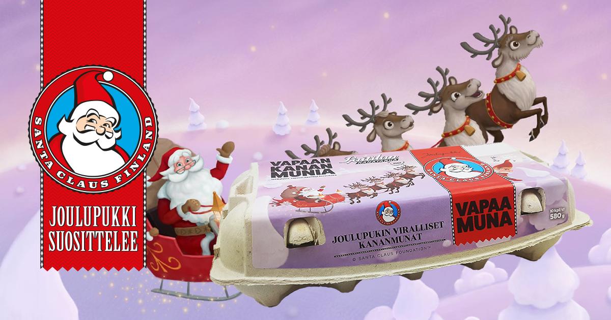 Laitilan Kanatarhalla on ilo esitellä tämän syksyn uutuus – Joulupukin viralliset kananmunat